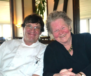 Le Garage owner Cheryl Rust with her chef of nearly 40 years, Al Dodge. (Charlotte Boynton photo)