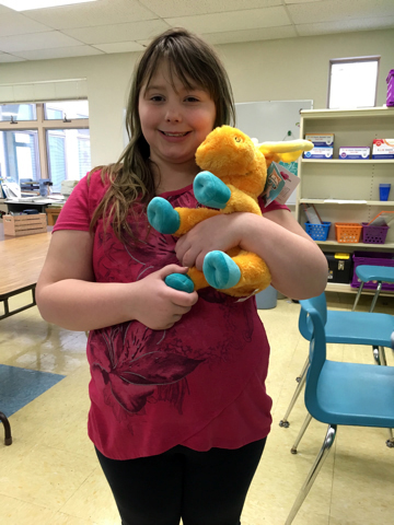 Congratulations to Sophia, who won the raffle for Thidwick the Big-Hearted Moose!