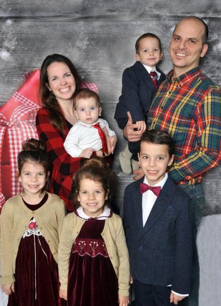 The Kolarik family: (from left) Grace, Laura, Timotej, Elizabeth, Jakub, David, and Radek.
