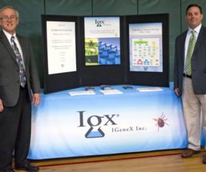 From left: Robert Giguere and Doug Priest of IGeneX Inc. (Photo courtesy H. Roberts Photography)