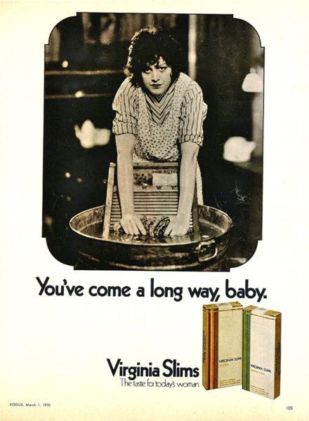 Zora Margolis in earlier days as the face of Virginia Slims cigarettes.