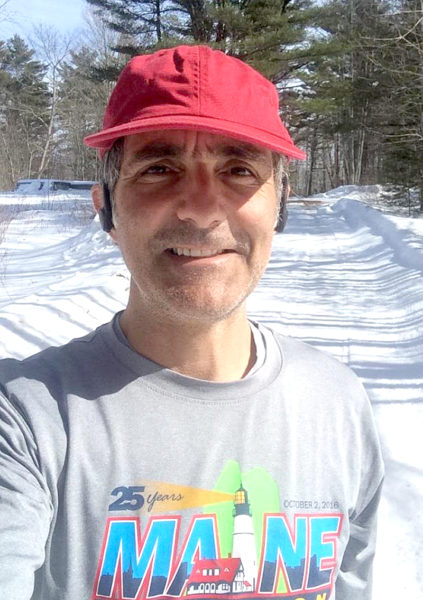 Alain Ollier, of Newcastle, is running the Boston Marathon to raise funds for Healthy Lincoln County's summer meals program.