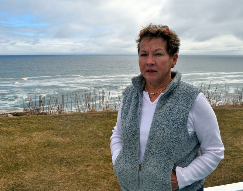 Paula Houghton, owner of the Sea Gull Shop for 40 years, sold the gift shop and restaurant at Pemaquid Point in March. (Maia Zewert photo)