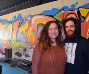To share their passion for music with the community, Olivia DeLisle and Zach Rankin have opened Reel to Reel Music in the Elm Street Plaza, 40 Elm St., Damariscotta. Reel to Reel has a wide variety of inventory, from vinyl records to new and used turntables. (Maia Zewert photo)