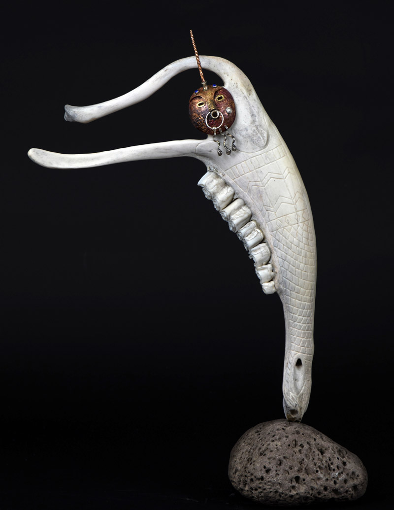 """Narwhale, Unicorn of the Sea,"" one of five Keith Plummer pieces shortlisted for the upcoming Visual Art Open in Chester, England. (Photo courtesy Keith Plummer)"
