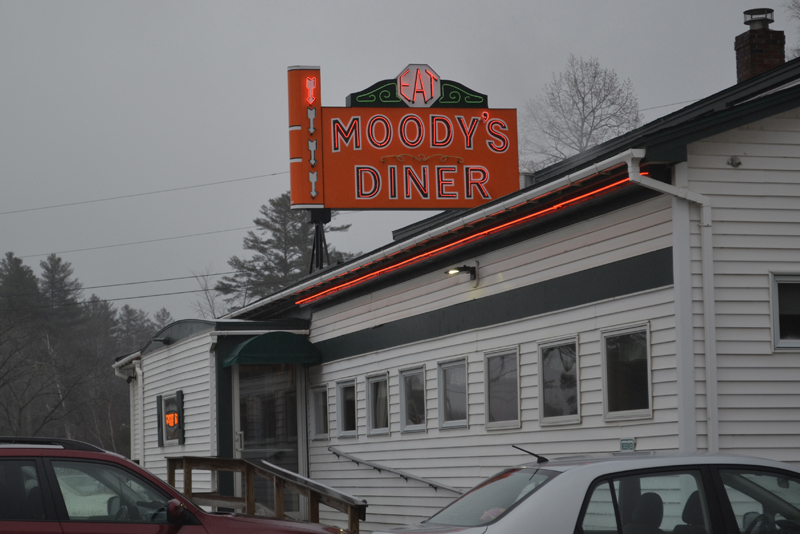 Moody's Diner on Tuesday, April 4, the day before the diner closed so staff could attend a public hearing in Augusta to support the reinstatement of the tip credit. (Abigail Adams photo)
