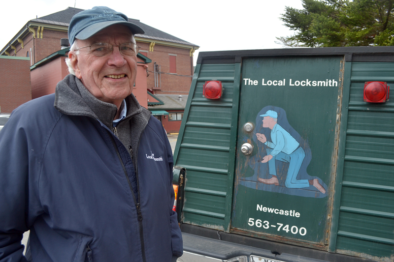 Dick Cleveland, of Newcastle, is looking for someone to take over The Local Locksmith, the mobile locksmith business he started 16 years ago. (Maia Zewert photo)