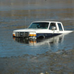 Pickup Goes Into the Water at Pine Street Landing in Waldoboro
