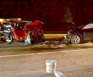 Teenage Driver Looking at GPS Causes Head-on Collision in Wiscasset