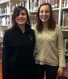 Maya Bailey (left) and Helen Newell, both of Newcastle, are members of St. Cecilia Chamber Choir.