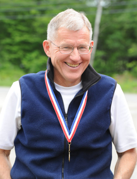 Retired Dr. Stephen Reed, of Wiscasset, completed his 28th straight Boston Marathon on Monday, with his new 'bionic' hip.