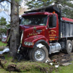 Dump Truck Strikes Tree in Bristol