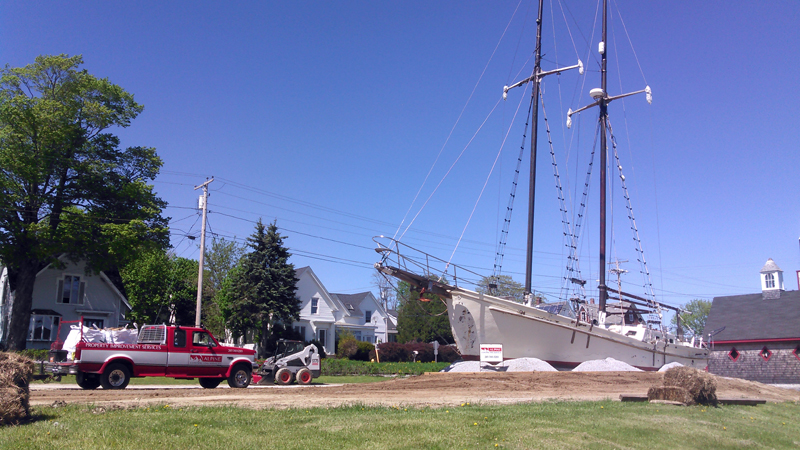 Alpine Contracting Services, of Damariscotta, stabilized and landscaped the yacht Gem as a permanent feature at the Sail, Power, and Steam Museum in Rockland. (Photo courtesy C.J. Turner)