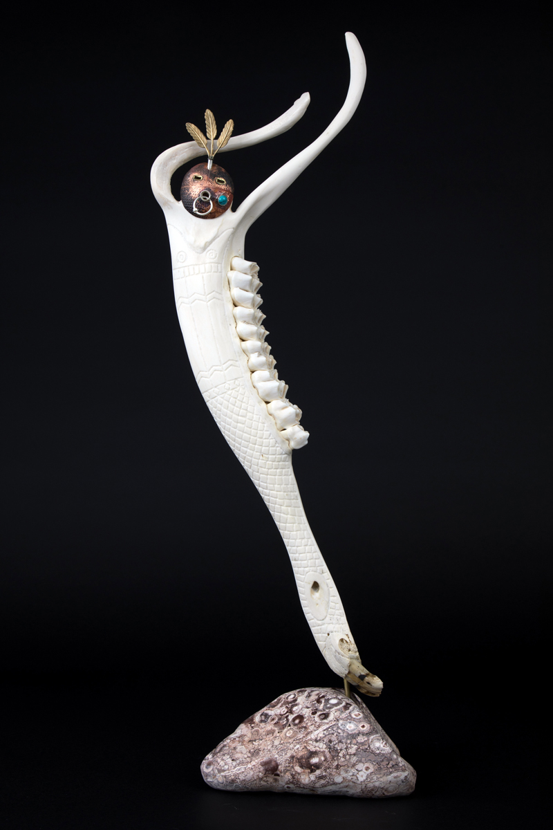 "Keith Plummer's bone-and-metal sculpture ""Pretty White Bird"" was recently chosen as a finalist in the Visual Art Open in Chester, England. (Photo courtesy Keith Plummer)"