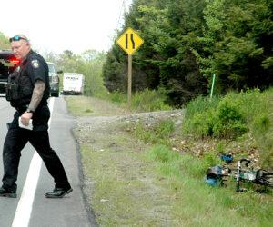Truck's Mirror Strikes Bicyclist on Route 1 in Waldoboro
