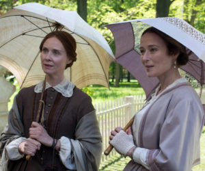 "Cynthia Nixon (left) and Jennifer Ehle star in ""A Quiet Passion."""