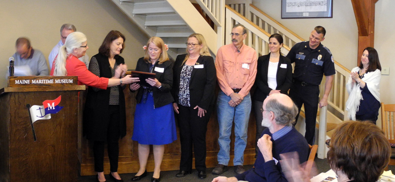 Boothbay region's Hope and Resilience Committee receives the Community Builder Award from United Way of Mid Coast Maine.