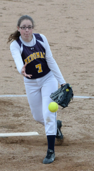 Audrey Schaeffer delivers a pitch for the Panthers. (Paula Roberts photo)