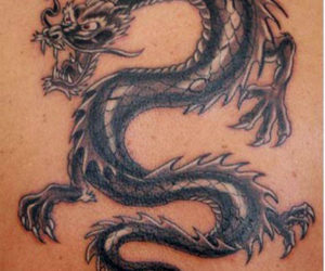 Early 19th-century dragon tattoos like this one symbolized a completed voyage to the China Sea.