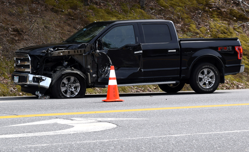 A 2016 Ford F-150 sustained damage to the driver's side in an accident on Route 1 in Edgecomb on Thursday, May 4.