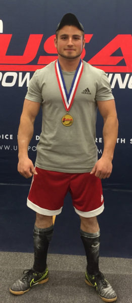 Mark Zaccadelli, of Bristol, won the 2017 USA Powerlifting State Championship in New Hampshire on April 29. He set Maine records in 11 events and unofficially broke an American record in the bench press. (Photo courtesy Natashia McBurnie)