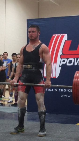 Mark Zaccadelli deadlifts 429 pounds at the 2017 USA Powerlifting New Hampshire State Championships. (Photo courtesy Natashia McBurnie)