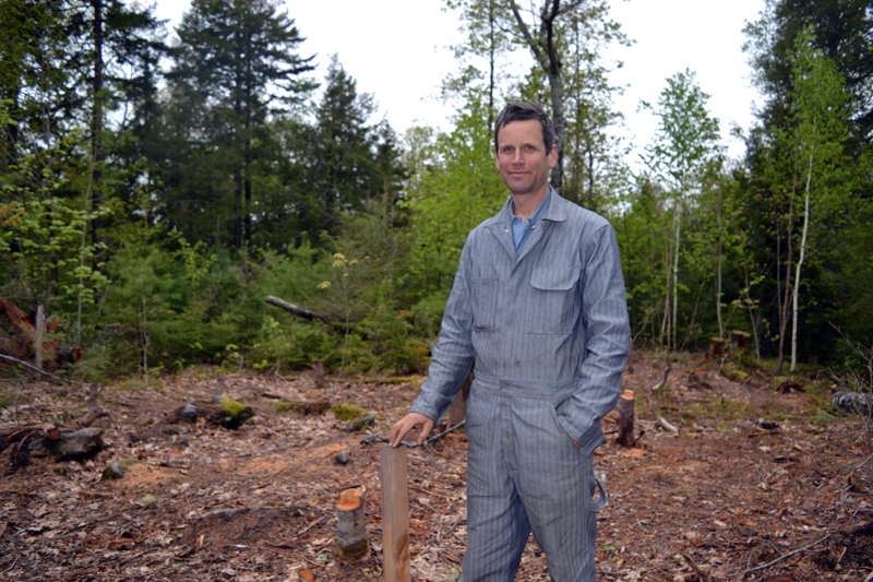 Kenneth Kortemeier stands on the site of the future Maine Coast Craft School. (Remy Segovia photo)