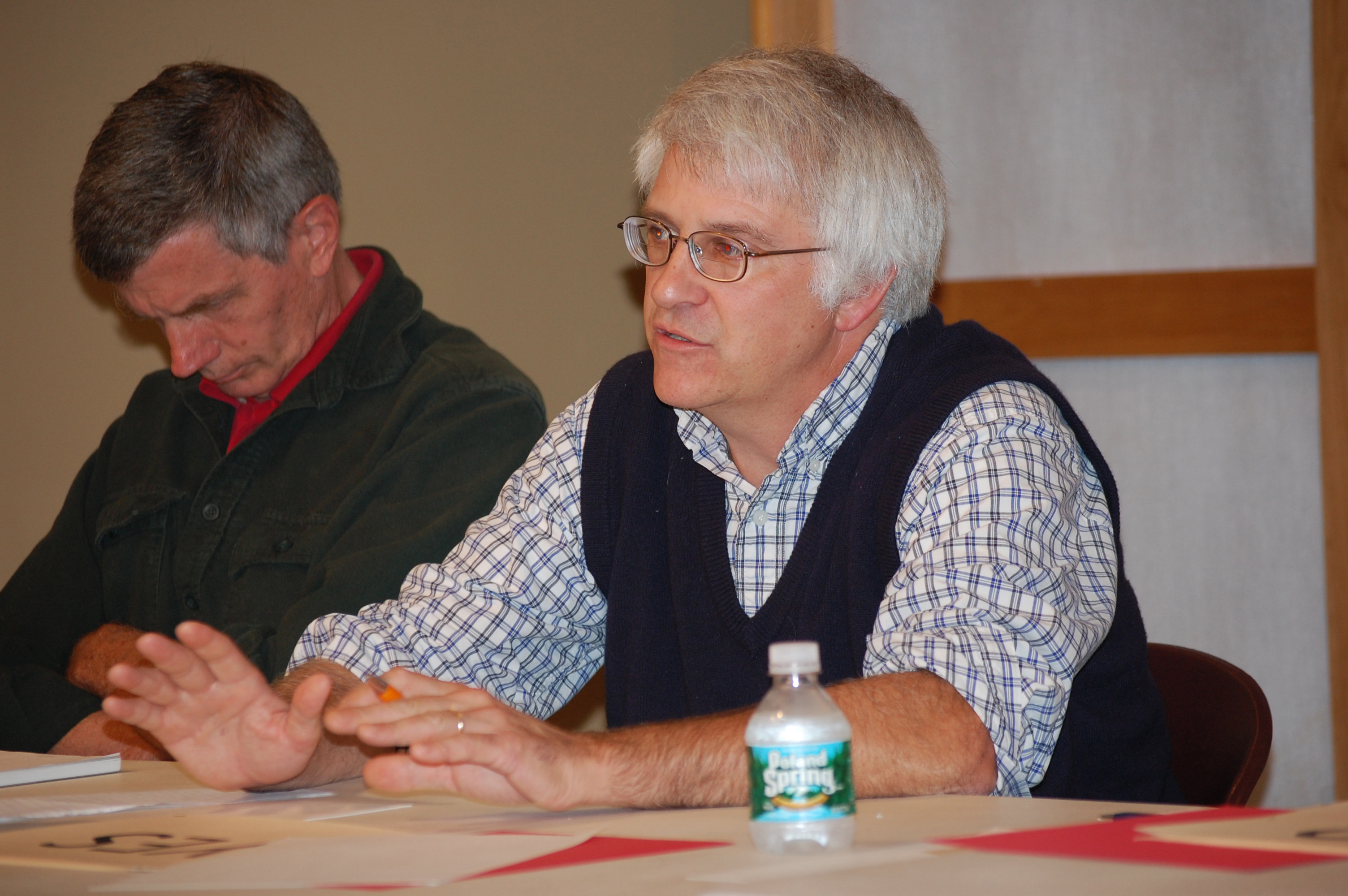 "Then-candidate Michael G. ""Mick"" Devin participates in a candidates forum in 2012. (J.W. Oliver photo, LCN file)"