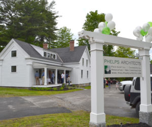 The new offices of Phelps Architects Inc. at 278 Main St. in Damariscotta. (Maia Zewert photo)
