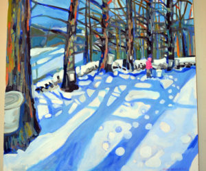 """Susan Bartlett Rice's oil painting """"Sugar on Snow"""" is part of her """"Becoming Summer"""" show on the walls of Savory Maine Dining & Provisions in Damariscotta through Monday, July 3. (Christine LaPado-Breglia photo)"""