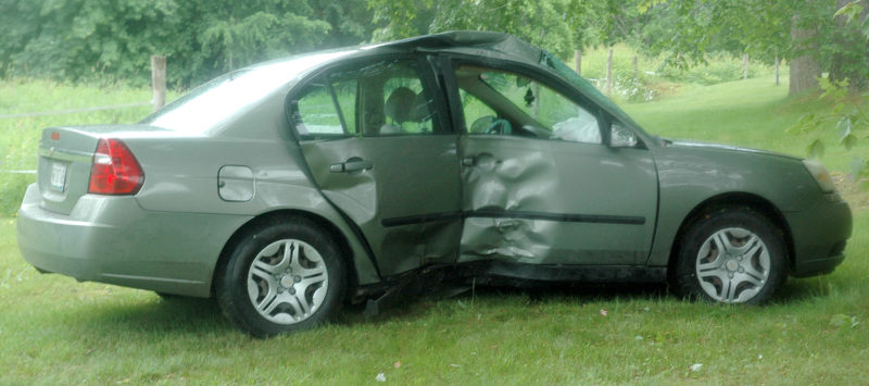 Two occupants were transported to the hospital with non-life-threatening injuries after an accident on South Clary Road in Jefferson during the morning of Friday, June 23. (Alexander Violo photo)