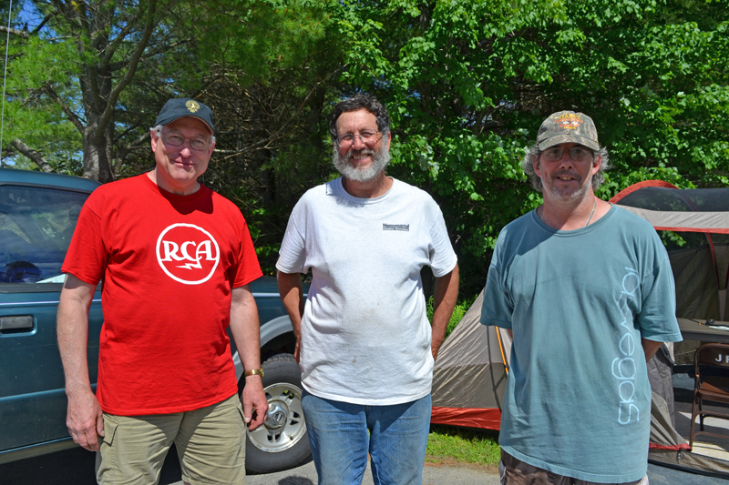 From left: Lincoln Country Amateur Radio Club members Joe Devonshire, of Jefferson, and Jose Douglas and Bill Clark, both of Bristol. (Remy Segovia photo)