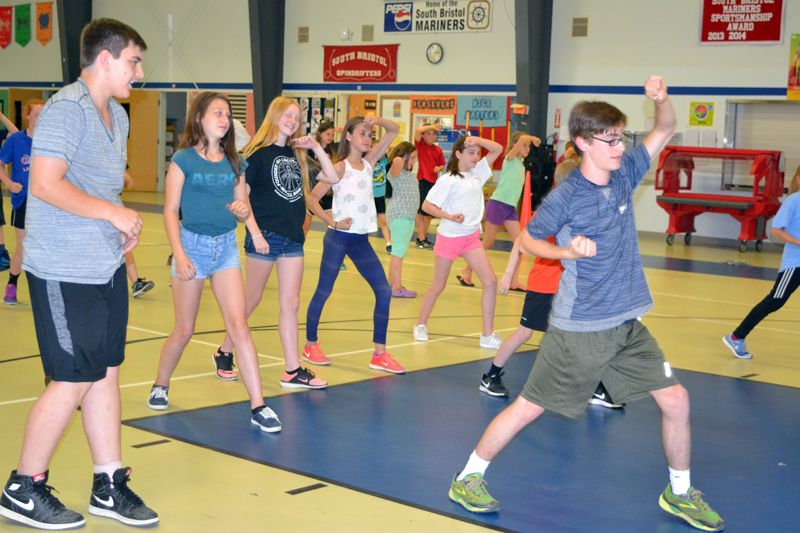 South Bristol School students demonstrate their recently acquired martial-arts skills during an afternoon presentation Thursday, June 22. (Christine LaPado-Breglia photo)