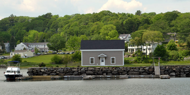 The Standard of Newcastle boathouse. Kieve-Wavus Education Inc. plans to buy the building. (Maia Zewert photo)
