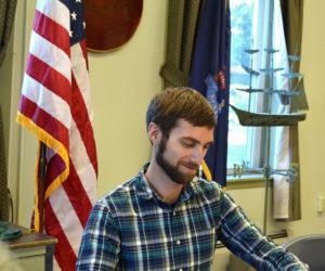 Wiscasset Town Planner Ben Averill attends a Wiscasset Planning Board meeting Monday, June 26. (Charlotte Boynton photo)