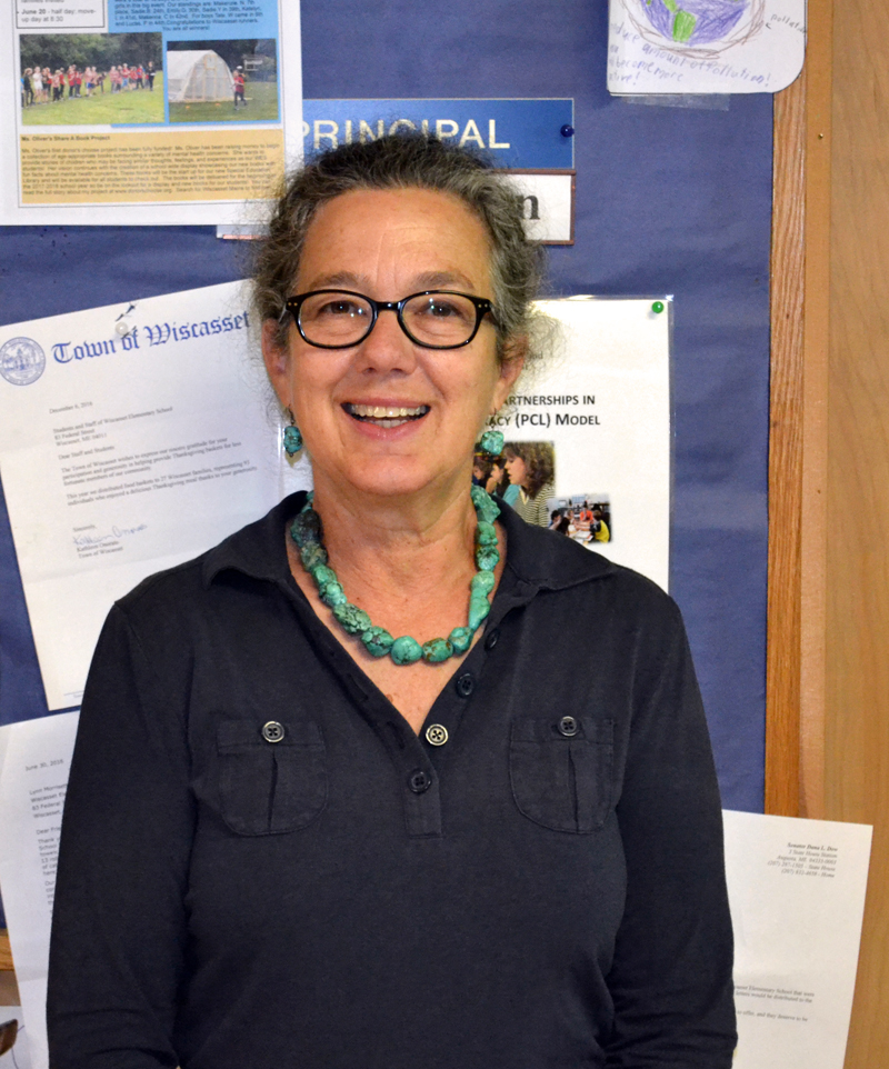 Wiscasset Elementary School Principal Mona Schlein will retire June 30 after 29 years as an educator in Wiscasset. (Abigail Adams photo)