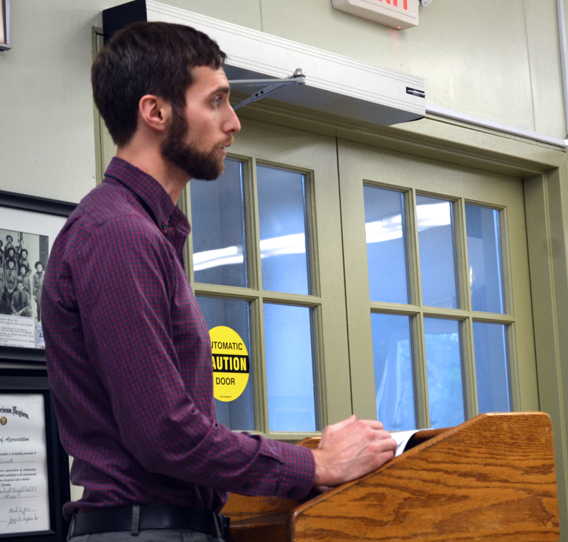 Wiscasset Town Planner Ben Averill speaks during a Wiscasset Board of Appeals meeting Monday, June 19. (Abigail Adams photo)