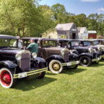 Antique Car Club Visits Boothbay Railway Village