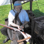 Blacksmith Jeffrey Miller at Chapman-Hall House