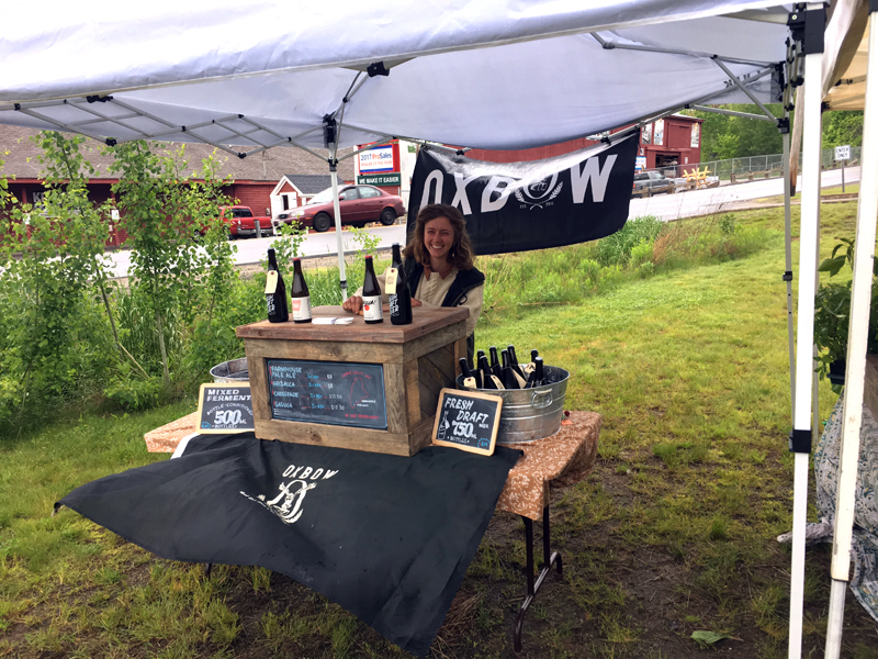 Oxbow Brewing Co. at the Damariscotta Farmer's Market.