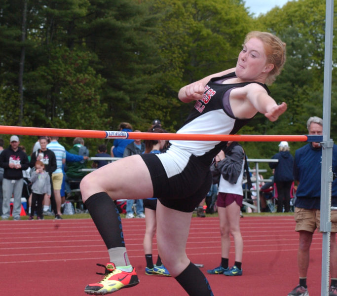 Olivia Richmond placed seventh in the State Class B high jump. (Paula Roberts photo)