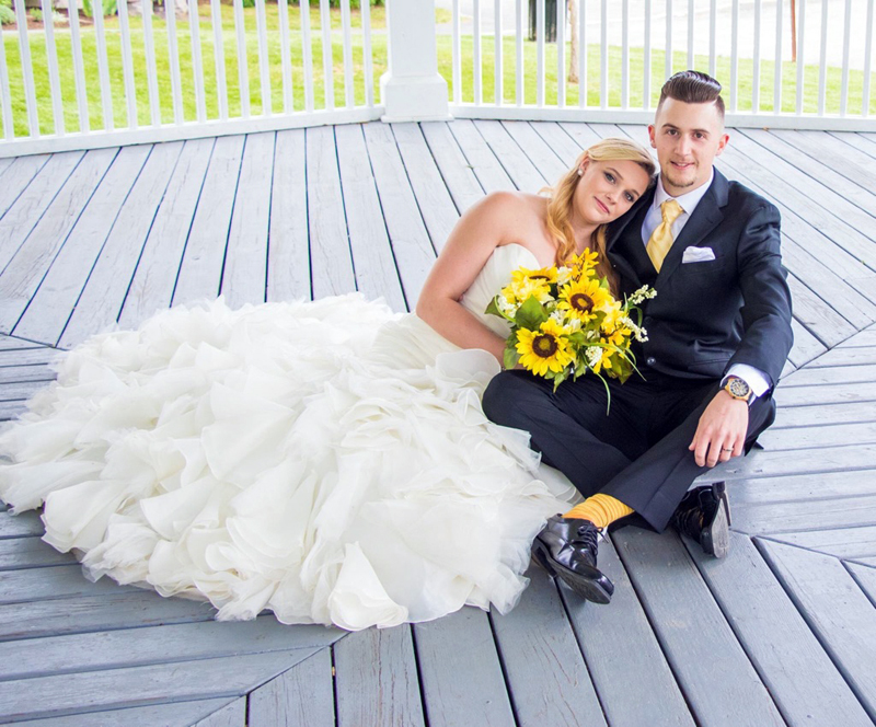 Heidi Pinkham and Vincent Souza exchanged wedding vows on June 3.