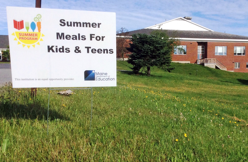 Miller School in Waldoboro is one of a number of locations in Lincoln County providing free summer meals to kids.