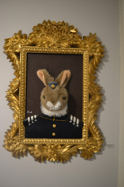 "Dale Dapkins' ""Admiral Robert (Call me Rabbit) Hart Lipps"" is one of three whimiscal pieces by Dapkins in ""The Boat Show,"" which opened Friday, June 30. (Christine LaPado-Breglia photo)"