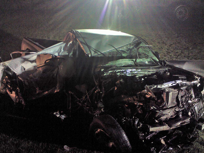 A 2011 Toyota Tacoma was going the wrong way on Route 1 in Damariscotta early Saturday, July 1 when it struck a tractor-trailer head-on.