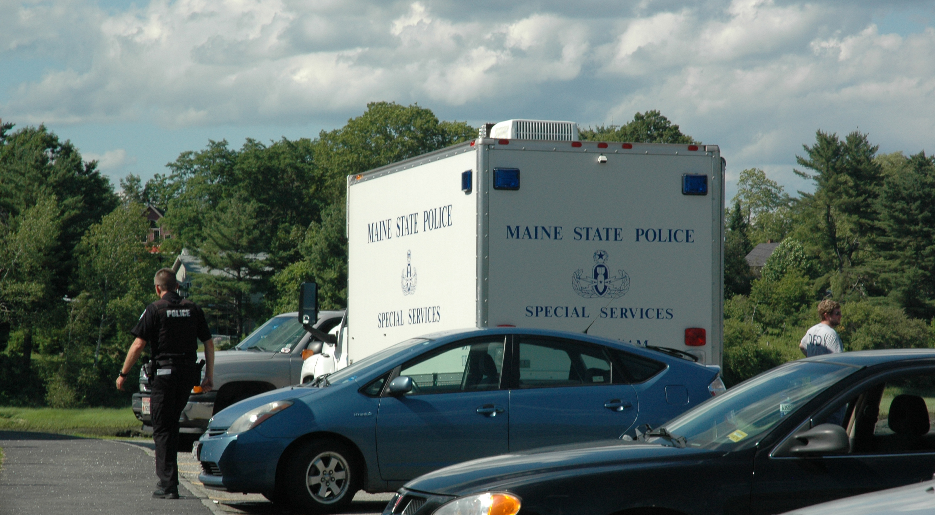 A unit from the Maine State Police Special Services division was called to the scene of LincolnHealth's Miles campus in Damariscotta to investigate a suspicious package found outside of the hospital during the afternoon of Sunday, July 2. (Alexander Violo photo)