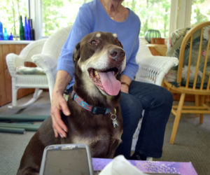 Jeter at home in Phippsburg. (Remy Segovia photo)