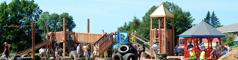 Great Salt Bay Community School's playground is having a 5-year-anniversary work party on July 28.