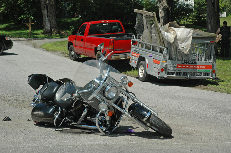 Dean Barlow, 45, of Knox, has died from injuries sustained in a July 2 collision with a pickup truck at the intersection of Old Augusta Road and Washington Road in Waldoboro. (Alexander Violo photo)