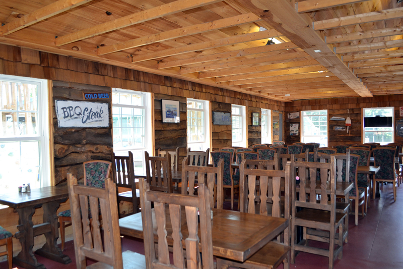 The dining room at the Lighthouse Restaurant in Wiscasset. (Charlotte Boynton photo)